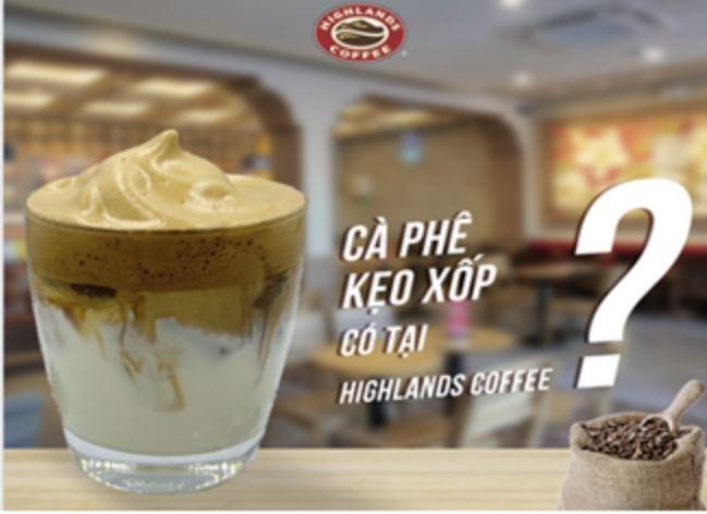 달고나 커피 런칭 예정을 밝힌 베트남 최고의 커피전문점 '하이랜드 커피'