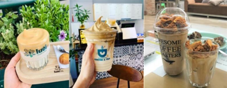 베트남 현지 카페에서 판매중인 달고나 커피