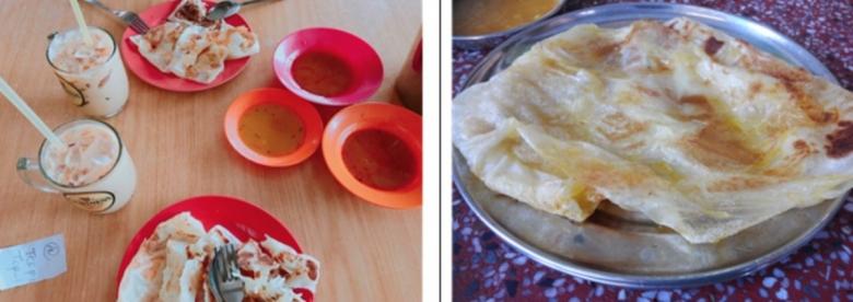 '로티나차이'(좌)와 '계란 로티나차이'(우)