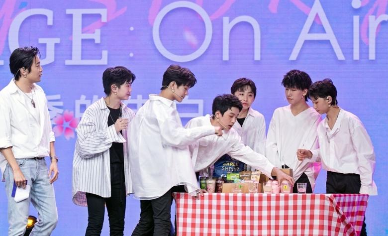 중국 아이돌그룹 '보이스토리'가 지난 5월 온라인 라이브 콘서트를 통해 유자차, 유제품 등의 K-푸드를 홍보했다. [사진=aT]