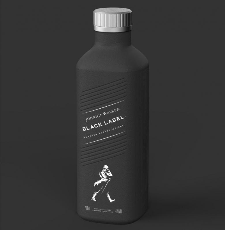 세계 최초 100% '플라스틱-프리' 종이 주류병(paper-based spirits bottle)을 사용한 '디아지오'(Diageo)의 '조니워커' 스카치 위스키 제품, 내년 출시 예정