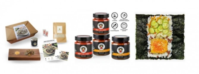 이지쿡아시아, 마마왕, 미밥의 제품들(왼쪽부터)