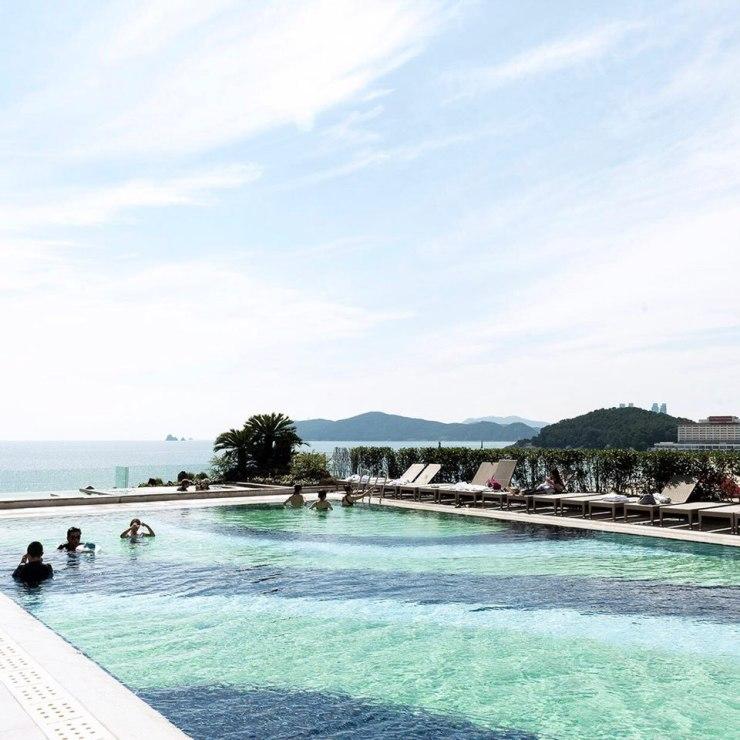 파라다이스 호텔 부산 온수 인피니티풀