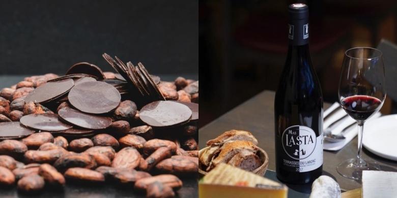 전시회 참가 업체의 유기농 와인과 초콜릿 제품 [사진=이유게이트웨이]