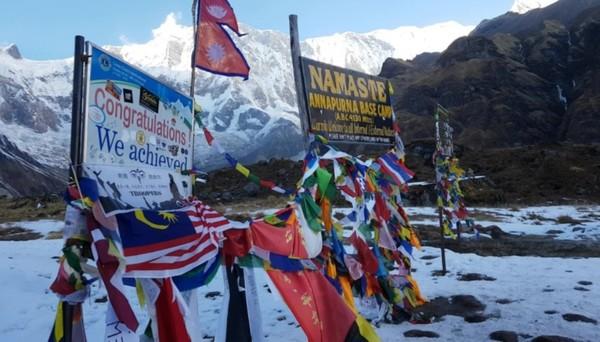 안나푸르나 베이스 캠프의 모습. 많은 이들이 꿈 꾸는 곳이기도 하다.