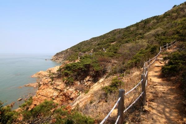 장봉도 해안선 풍경