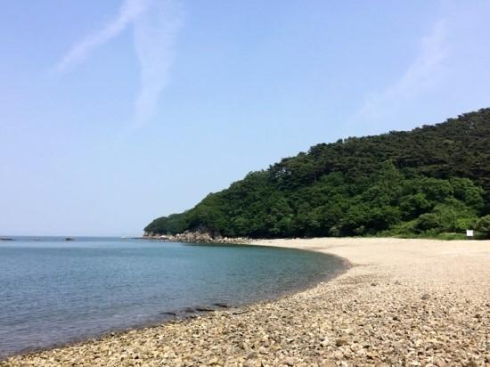 자월도의 해변