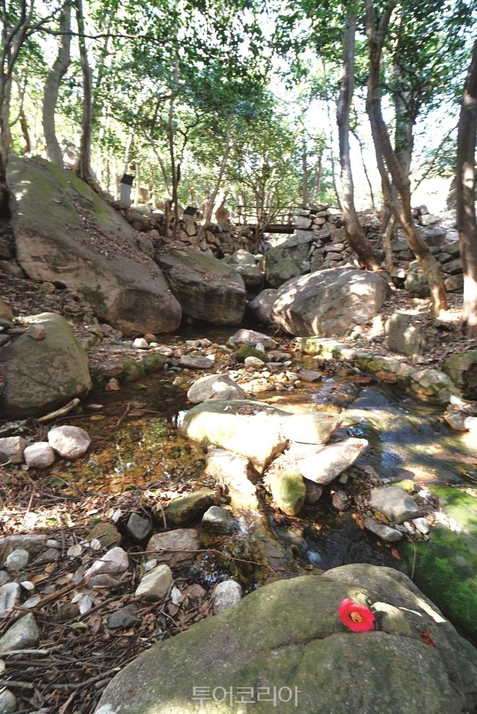 백운동원림 4경 홍옥폭(紅玉瀑)