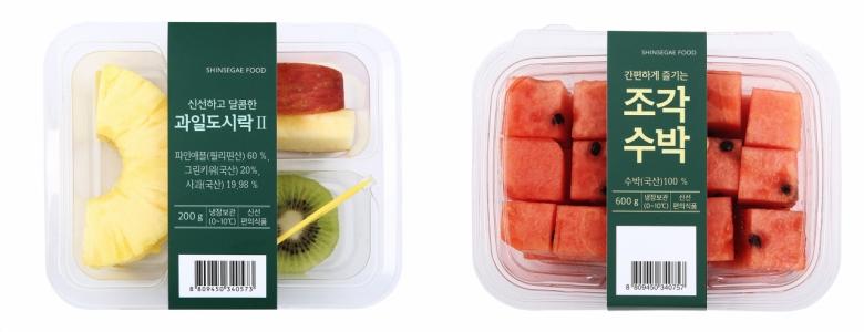 과일도시락(좌), 조각수박(우)[신세계푸드 제공]