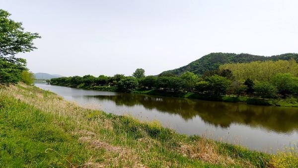 송산유원지 부근의 황룡강