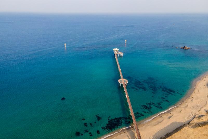 해중전망대에서는 바닷속 모습을 생생하게 볼 수 있다