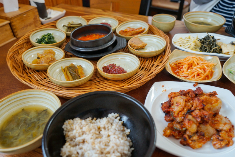 강진 오감통에서 맛 본 보리밥 정식